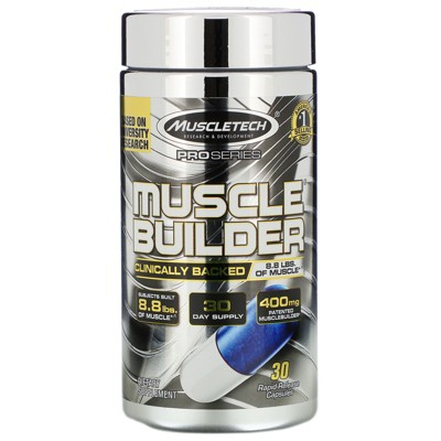Muscletech Pro Series, Muscle Builder, 30 Rapid-Release Capsules, Sports Nutrition Supplements