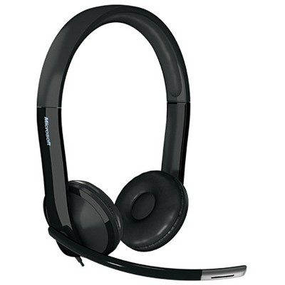 Microsoft LifeChat LX-6000 Headset - Wired Headset - Binaural Headset for Clear Stereo Sound - Noise-Cancelling Microphone