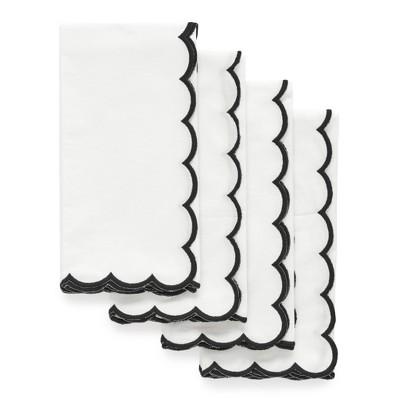 White + Black Scallop Dinner Napkins - sugar paper™