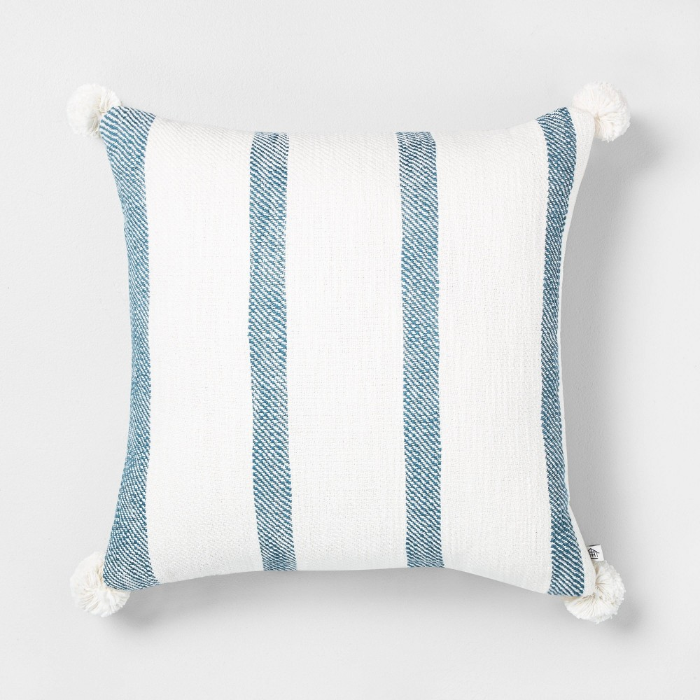 18 34 X 18 34 Bold Stripes Throw Pillow Blue Hearth 38 Hand 8482 With Magnolia