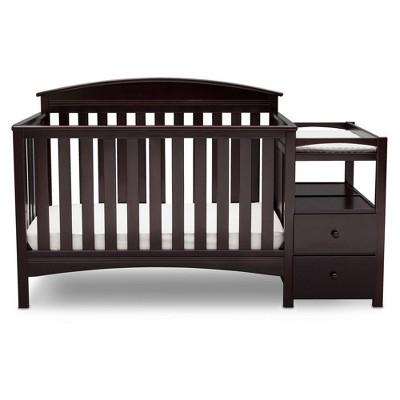 Delta Children Abby Convertible Crib and Changer - Dark Chocolate