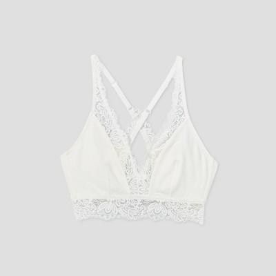 Women's Cotton Bralette with Lace - Auden™
