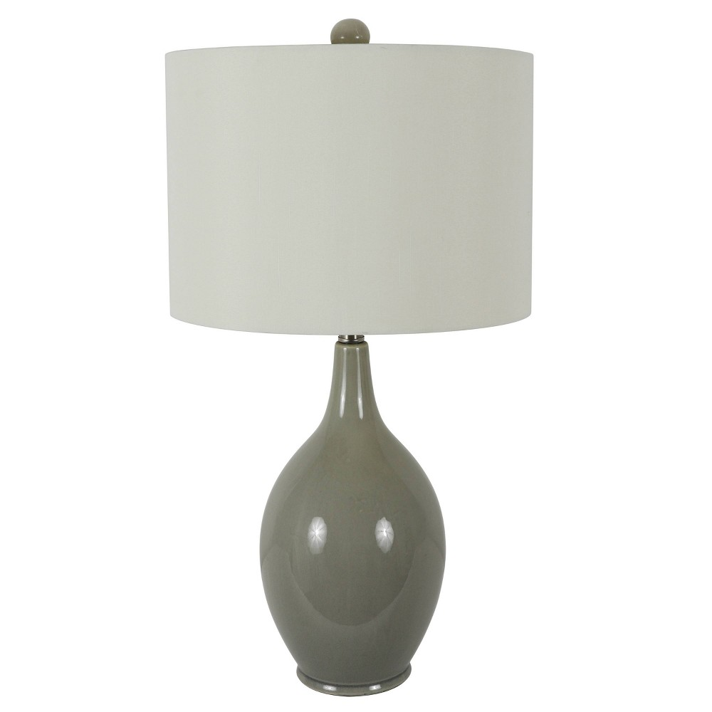Image of Annabelle Ceramic Table Lamp Gray - Decor Therapy