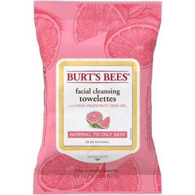 Burt's Bees Facial Cleansing Towelettes - Pink Grapefruit - 10ct