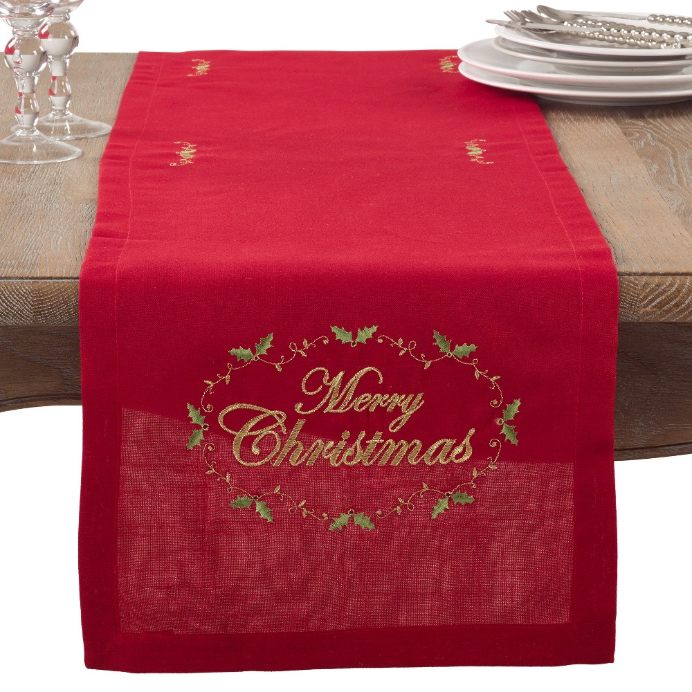 Table Runner Red Saro Lifestyle