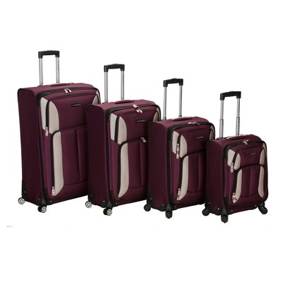 Rockland Impact 4pc Spinner Luggage Set - Burgundy