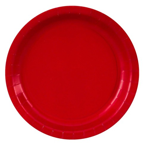 48ct Red Dessert Plate - image 1 of 1