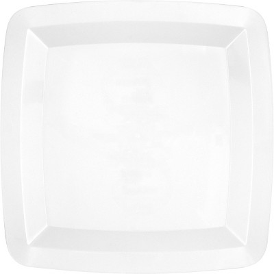 White Square Serving Tray