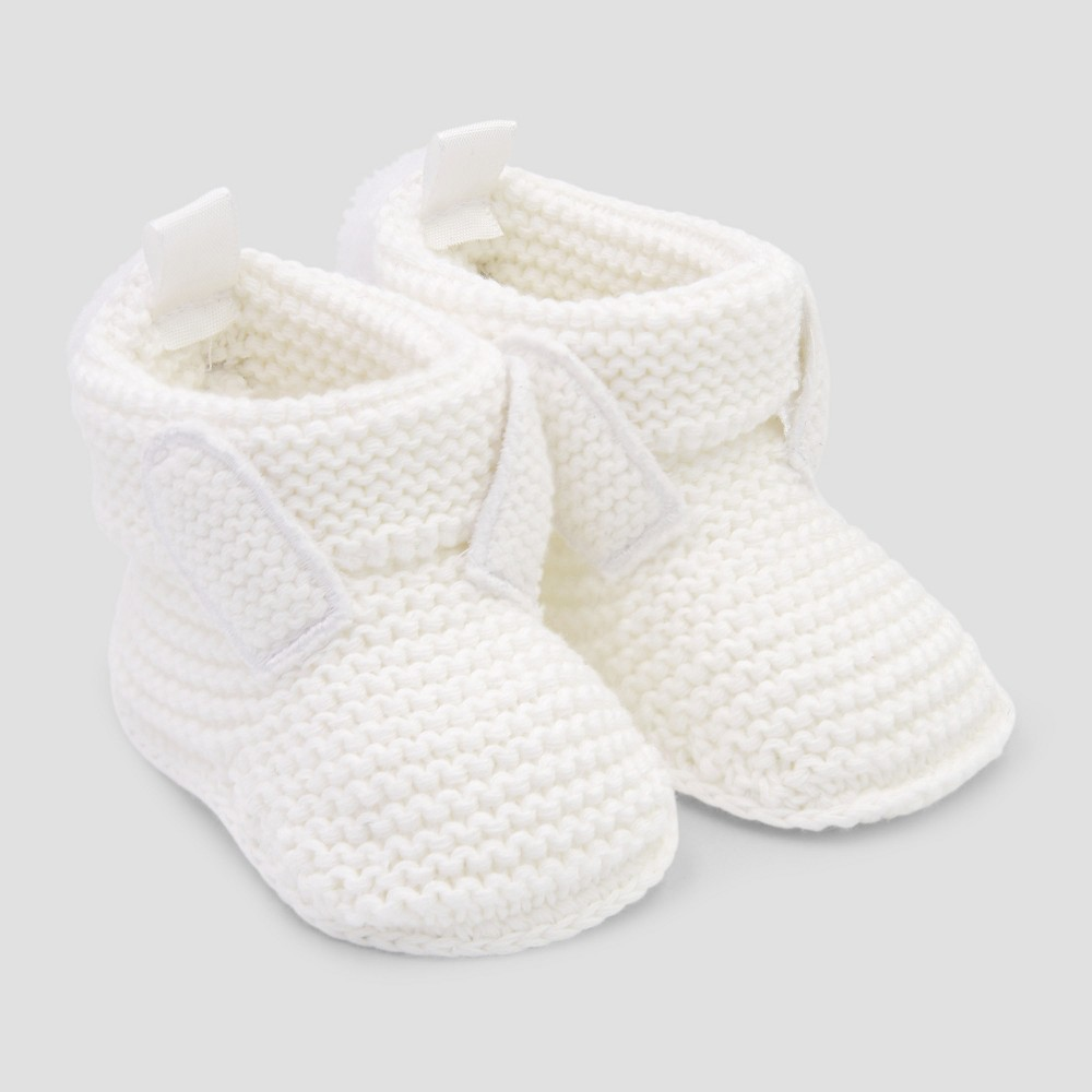 Baby Rabbit Bootie Slippers - Just One You made by carter's Cream (Ivory) Newborn, Newborn Unisex