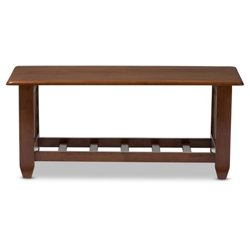 Larissa Modern Clic Mission Style Living Room Occasional Coffee Table Cherry Brown Baxton Studio Target