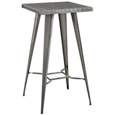 Direct Metal Bar Table Gunmetal - Modway