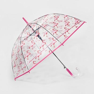 ShedRain Bubble Umbrella - Clear Flamingo