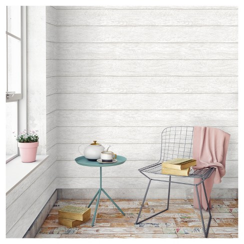 Devine Color Textured Shiplap Peel Stick Wallpaper Mirage