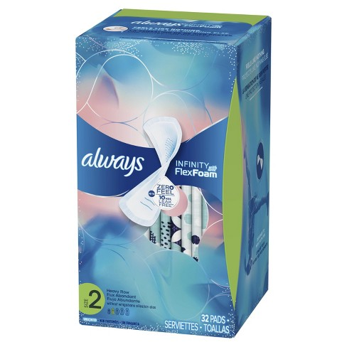 Always Infinity Avec Flex Foam Pads - Size 2 - 32ct - image 1 of 4