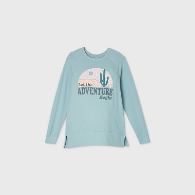 """Maternity """"Let the Adventure Begin"""" Graphic Sweatshirt - Isabel Maternity by Ingrid & Isabel™ Blue"""