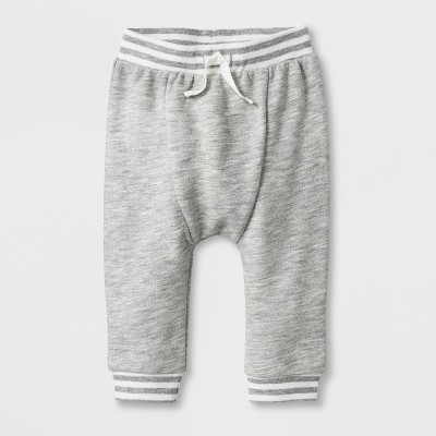 Baby Boys' French Terry Jogger Pants - Cat & Jack™ Light Heather Gray 0-3M