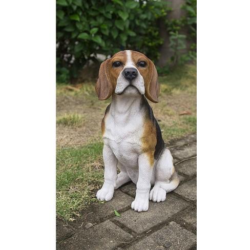 "10"" Polyresin Sitting Beagle Dog Statue Brown/White - Hi-Line Gift - image 1 of 1"
