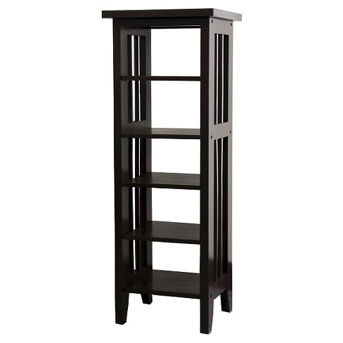 "33.5"" Media Storage Tower Espresso - Ore International - image 1 of 1"