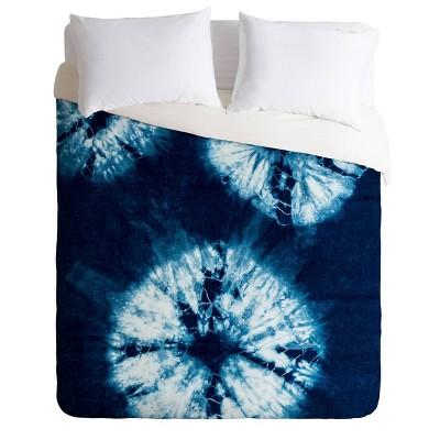 Nicole Van Ekeren Indigo Tie Dye Comforter Set - Deny Designs