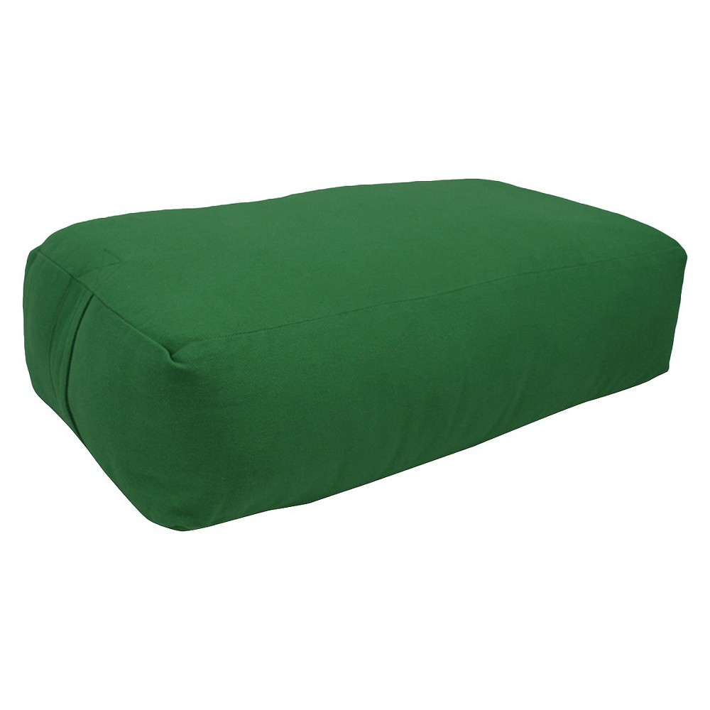 Yoga Direct Supportive Rectangular Bolster - Green