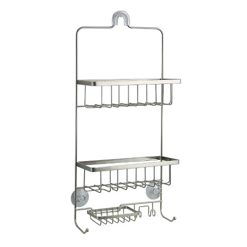 Steel Shower Caddy Brushed Nickel - Made By Design™ - image 1 of 2