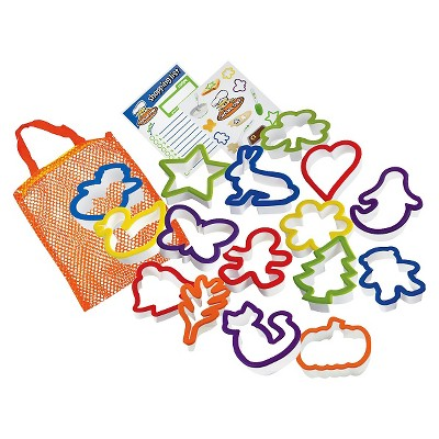 Curious Chef 16pc Cookie Cutter Collection