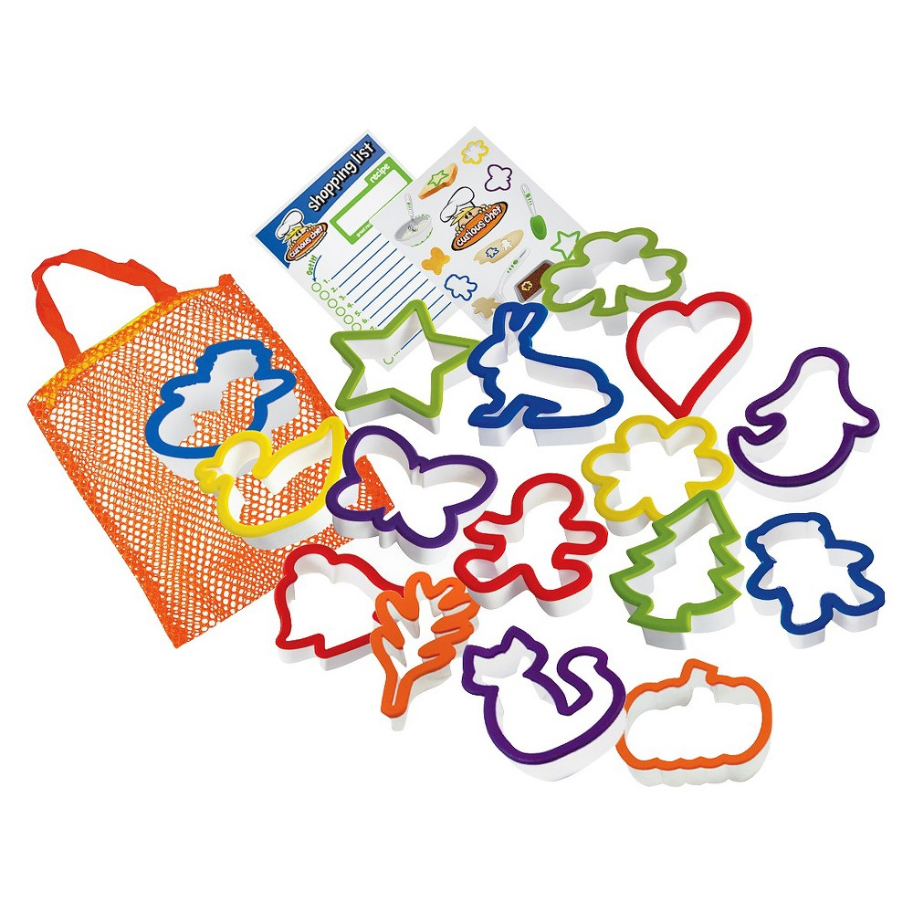 Image of Curious Chef 16pc Cookie Cutter Collection, White/Green