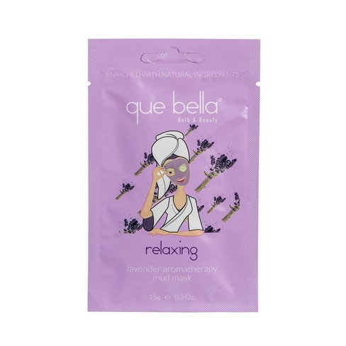 Que Bella Relaxing Lavender Mud Face Mask - 0.5oz - image 1 of 3