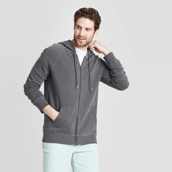 Men's Standard Fit French Terry FZ Hoodie Sweatshirt - Goodfellow & Co™