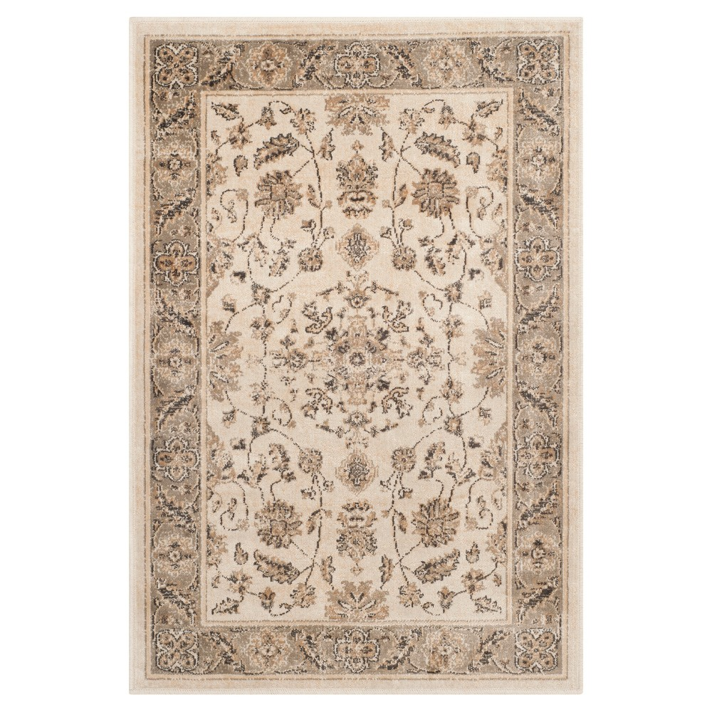 Preston Vintage Accent Rug - Stone / Mouse ( 2' 7 X 4' ) - Safavieh, Grey/Mouse