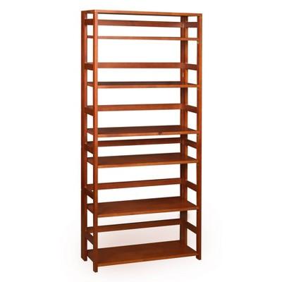 "67"" Cakewalk High Folding Bookcase Cherry - Regency"