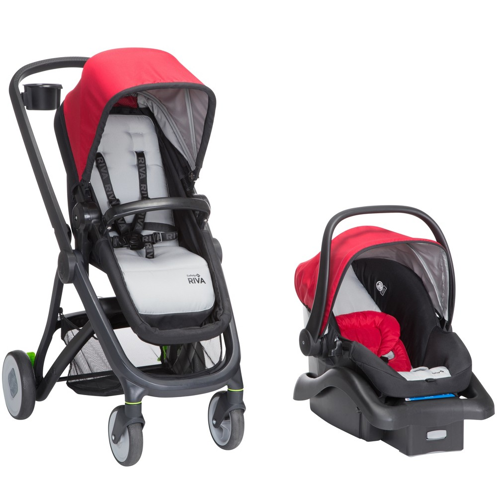 Image of Safety 1st RIVA 6-in-1 Flex Modular Travel System - Red