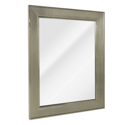 "29"" x 35"" Pave Wall Mirror in Brushed Nickel - Head West"