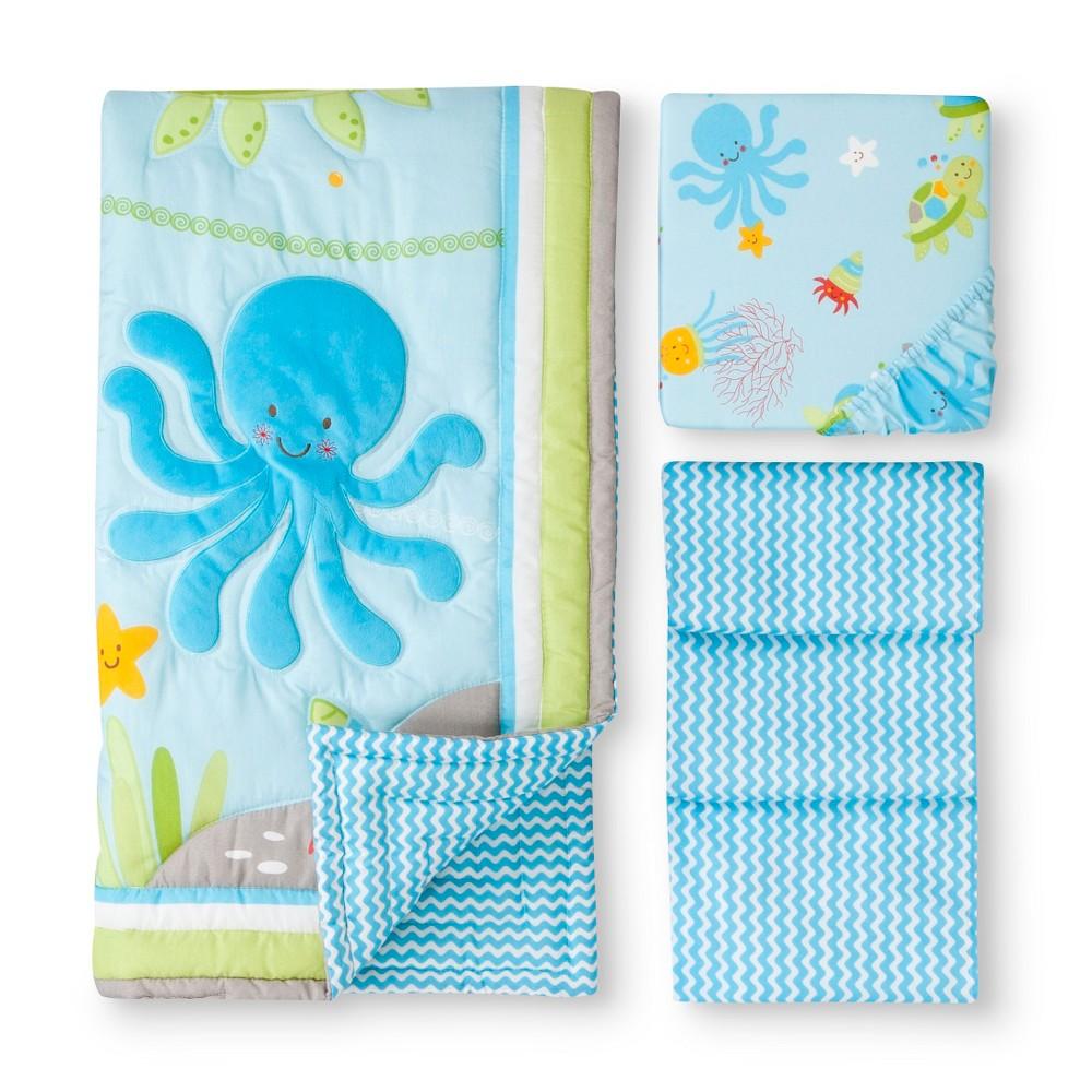 Image of Ocean Dreams 3pc Crib Set, Blue