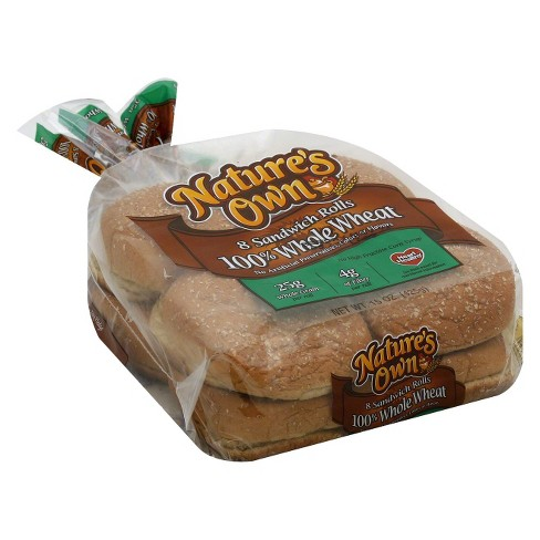 Nature's Own 100% Whole Wheat Sandwich Rolls 8 ct - image 1 of 1
