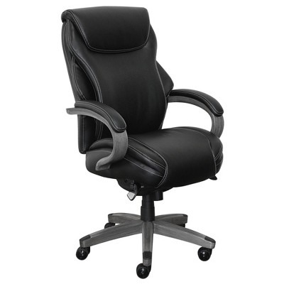 Hyland Bonded Leather & Wood Executive Office Chair - La-Z-Boy