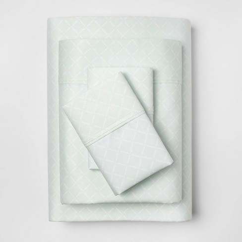 Performance Solid Sheet Set (California King) Morning Frost 400 Thread Count - Threshold™ - image 1 of 3