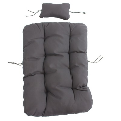 Julia 2pc Replacement Egg Chair Cushion Set Gray - Sunnydaze Decor