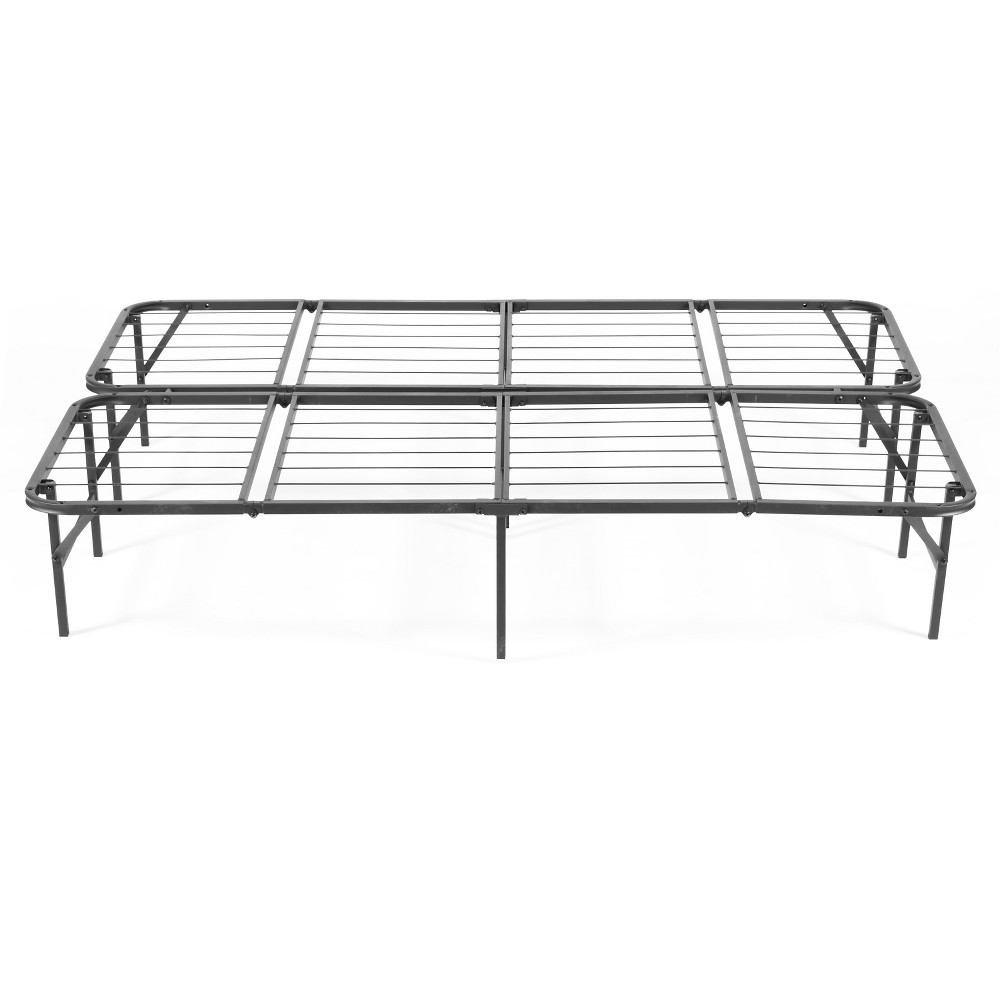 Image of Simple Base Quad-Fold Bed Frame (California King), Black