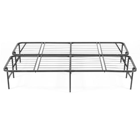 Simple Base Quad Fold Bed Frame Black Pragmabed Target
