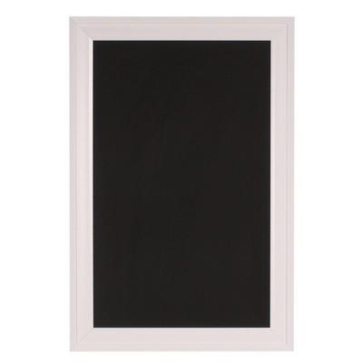 "19"" x 28"" Bosc Framed Magnetic Chalkboard White - DesignOvation"