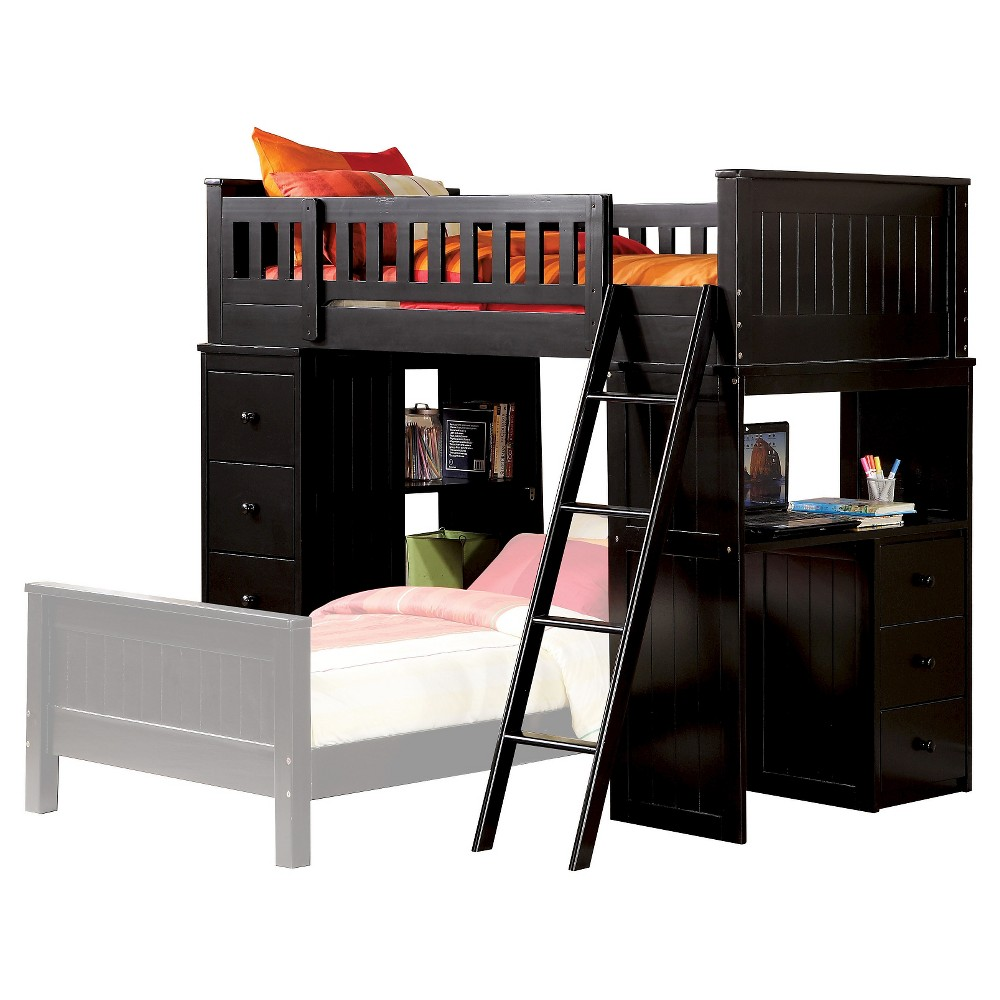 Willoughby Kids Loft Bed - Black(Twin) - Acme