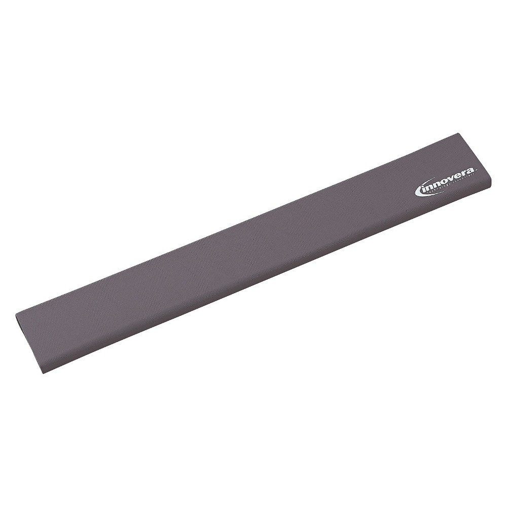 Innovera Natural Rubber Keyboard Wrist Rest, Gray