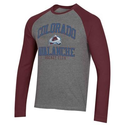 NHL Colorado Avalanche Men's Long Sleeve Raglan T-Shirt - L