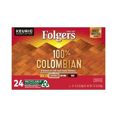 Folgers Colombian Dark Roast Coffee - Keurig K-Cup Pods - 24ct