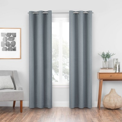 "63""x42"" Windsor Blackout Curtain Panel Slate - Eclipse"