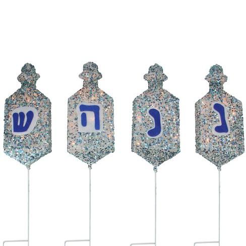 Northlight Set of 4 Lighted Dreidel Hanukkah Pathway Marker Outdoor  Decorations - Northlight Set Of 4 Lighted Dreidel Hanukkah Pathwa : Target