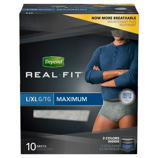 Depend Real Fit Incontinence Underwear for Men, Maximum Absorbency, 12ct
