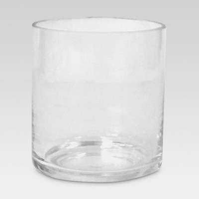 Glass Candle Holder Small Clear - Threshold™