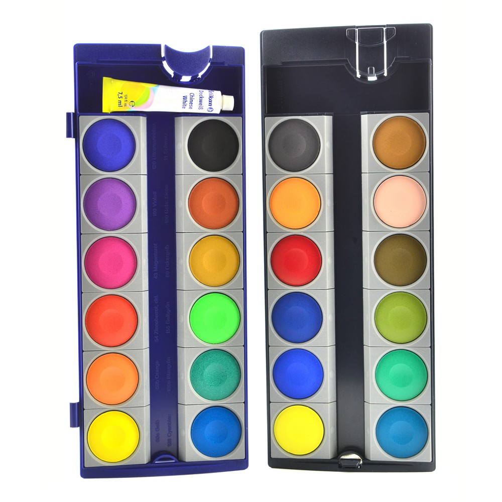 Image of Opaque Watercolor Paint Box - Pelikan 24ct